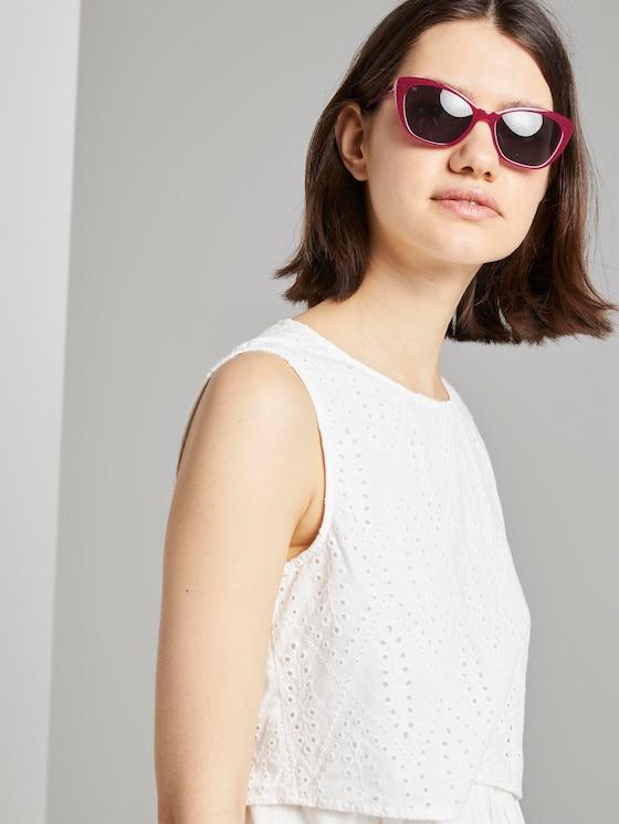 Sonnenbrille mit breitem Rahmen - Frauen - pink - 5 - TOM TAILOR Denim
