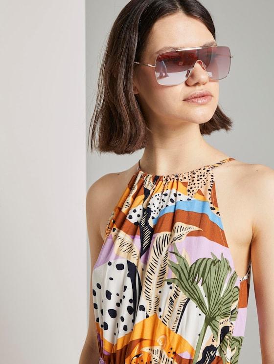 Shield Sonnenbrille mit Metallgestell - Frauen - rose gold - 5 - TOM TAILOR Denim