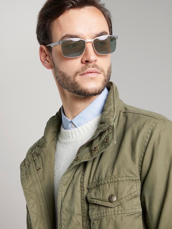 Wayfarer sunglasses with a metal frame - Men - light grey frosted - 5 - TOM TAILOR