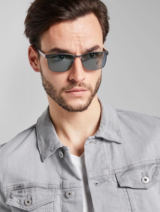 Wayfarer Sonnenbrille mit Metallgestell - Männer - black frosted - 5 - TOM TAILOR