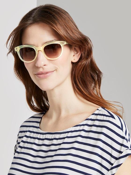 Wayfarer Sonnenbrille mit getönten Gläsern - Frauen - light yellow transparent - 5 - TOM TAILOR