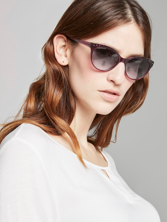 Cat-Eye Sonnenbrille - Frauen - berry - 5 - TOM TAILOR