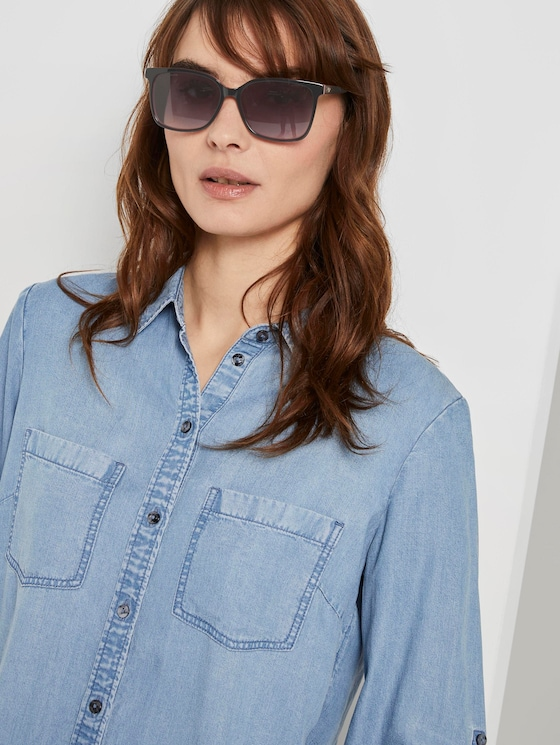 Wayfarer sunglasses with tinted lenses - Women - black-pink-kristall-silver - 5 - TOM TAILOR