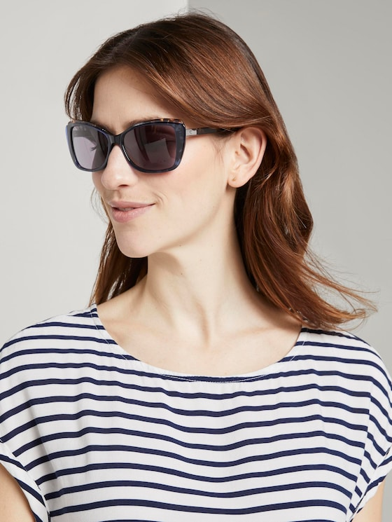 Sunglasses with tinted lenses - Women - blue-havanna - 5 - TOM TAILOR