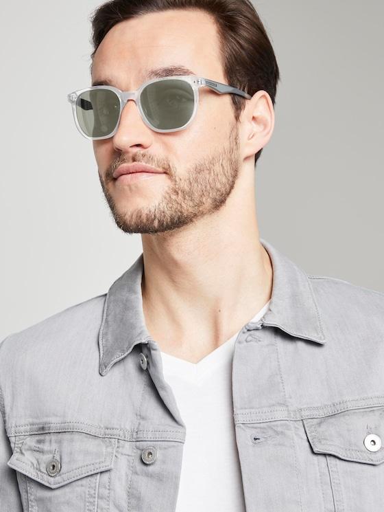 Mirrored wayfarer sunglasses - Men - light grey transparent - 5 - TOM TAILOR