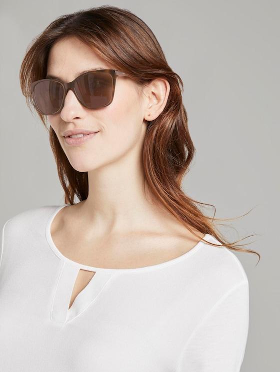 Wayfarer sunglasses with a coloured frame - Women - havanna-light gold - 5 - TOM TAILOR