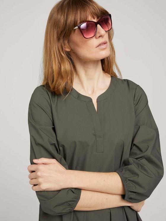 Wayfarer Sonnenbrille mit farbigem Rahmen - Frauen - red structure-gun - 5 - TOM TAILOR