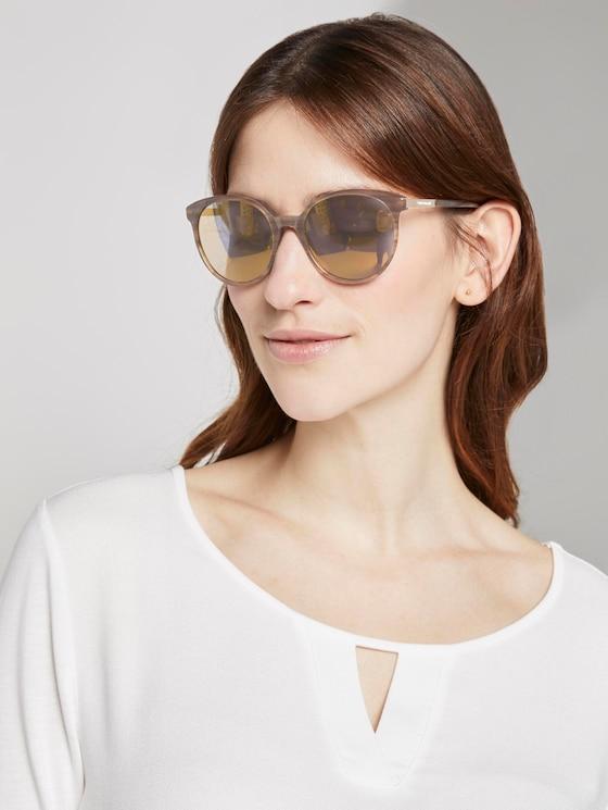 Abgerundete Sonnenbrille - Frauen - light brown structure - 5 - TOM TAILOR