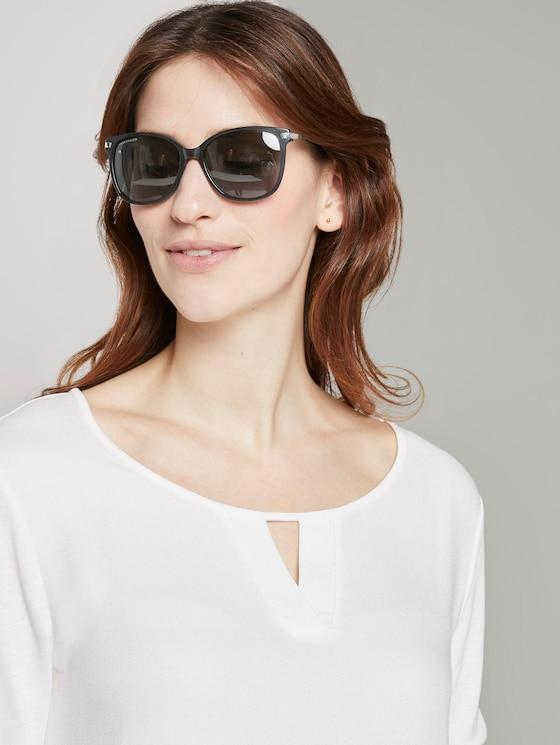 Wayfarer Sonnenbrille mit farbigem Rahmen - Frauen - black structure silver - 5 - TOM TAILOR