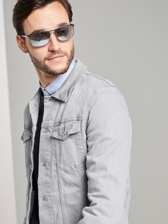 Mirrored pilot sunglasses with spring hinges - Men - light gun black frosted - 5 - TOM TAILOR
