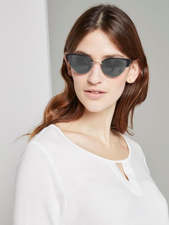 Cat-Eye Sonnenbrille mit farbigem Rahmen - Frauen - black-gold - 5 - TOM TAILOR