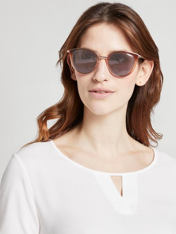 Abgerundete Sonnenbrille mit getönten Gläsern - Frauen - brown-rose-gold - 5 - TOM TAILOR