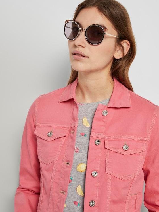 Runde Sonnenbrille mit getönten Gläsern - Frauen - balck-havanna-silver - 5 - TOM TAILOR