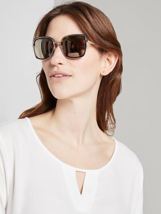 Sunglasses with large lenses - Women - havanna black-gold - 5 - TOM TAILOR