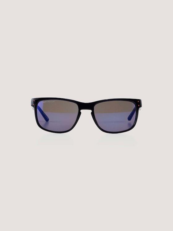 Sportliche Unisex-Kindersonnenbrille - unisex - dark blue transp-orange - 7 - TOM TAILOR
