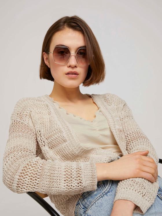 Oversize Sonnenbrille - Frauen - gold matt - 5 - TOM TAILOR Denim