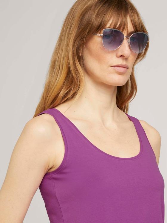Feminine Sonnenbrille mit betonter Außenkontur - Frauen - copper-grey/ matt perl - 5 - TOM TAILOR