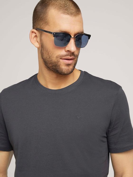 Sonnenbrille in Retro-Form - Männer - black-white-grey/ gun matt - 5 - TOM TAILOR
