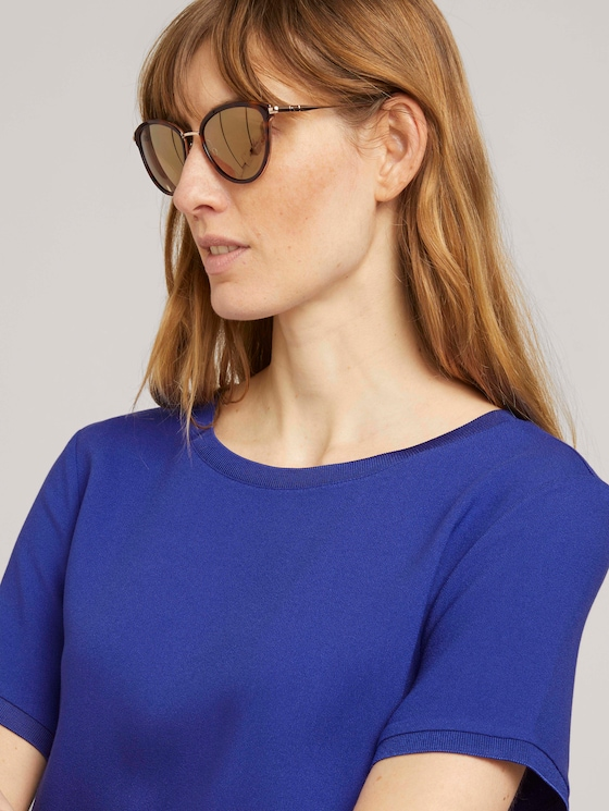 Sonnenbrille in Cat-Eye-Form - Frauen - havanna-gold/ gold reflected - 5 - TOM TAILOR