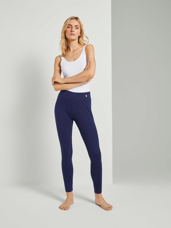 Pyjama Leggings - Frauen - dark blue uni - 3 - TOM TAILOR