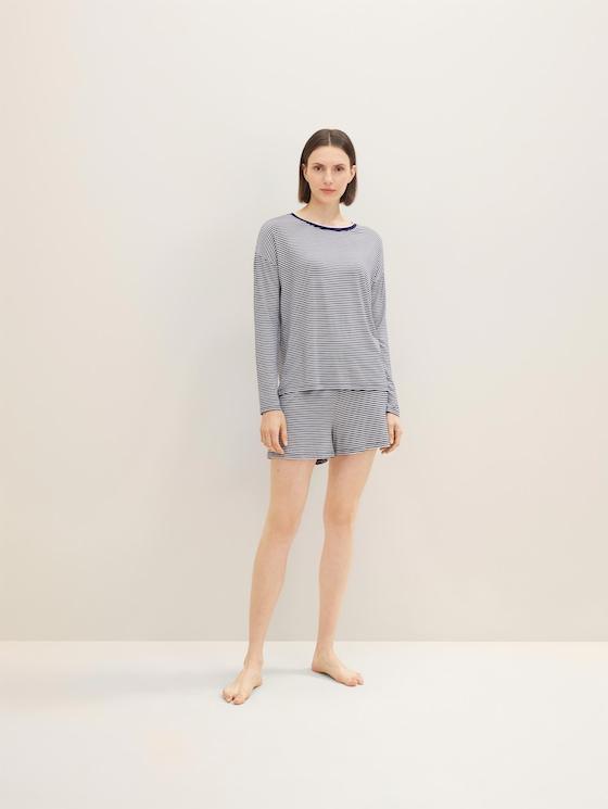 Lange nachthemd met strepen - in Pyjama's & Loungewear