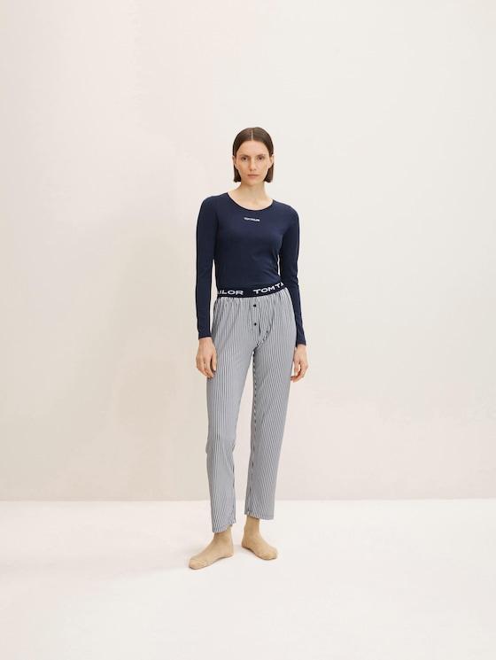 Streepte Pyjama Broek - in Pyjama's & Loungewear
