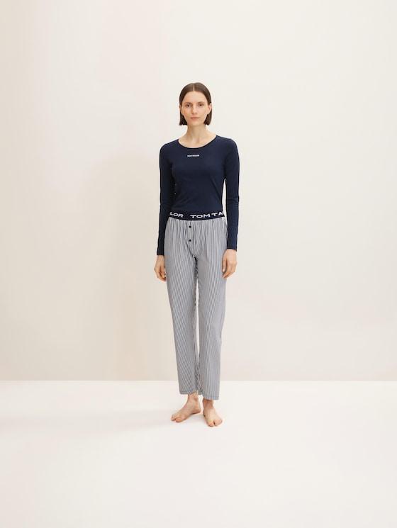 Gestreifte Pyjamahose - Frauen - blue stripes - 3 - TOM TAILOR