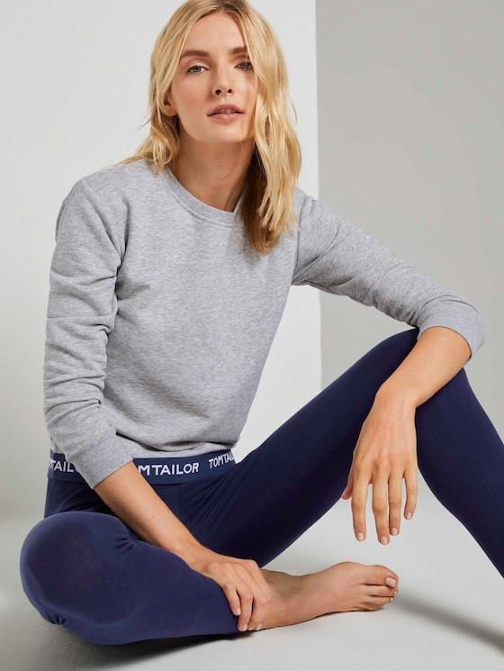 Pyjama Sweatshirt - Frauen - grey melange - 5 - TOM TAILOR