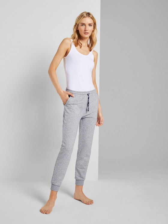 Pyjama Sweathose - Frauen - grey melange - 3 - TOM TAILOR