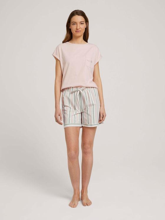Pyjama-Shorts mit Streifen - Frauen - white stripes - 3 - TOM TAILOR