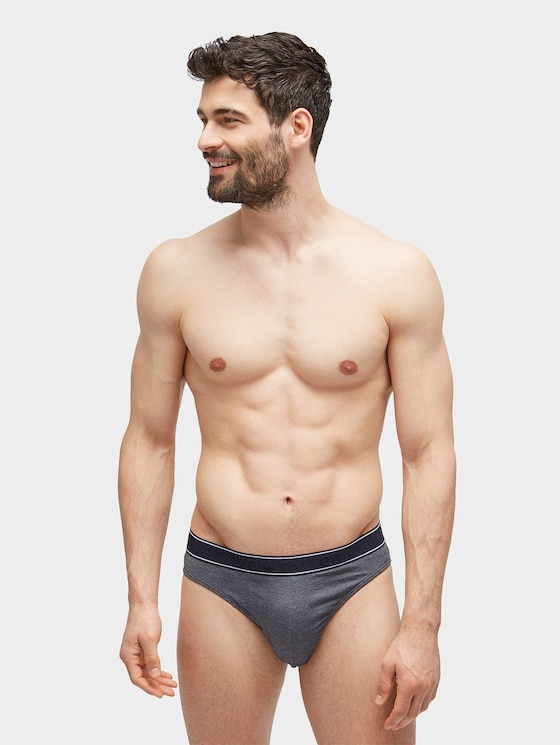 Simple briefs with an embossed logo - Men - dunkelblau / navy - 1 - TOM TAILOR