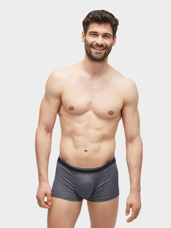 Simple hipster briefs with logo embossing - Men - dunkelblau / navy - 1 - TOM TAILOR