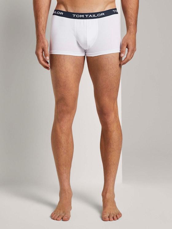 Hip-Pants im Dreierpack - Männer - white-light-multicolor - 1 - TOM TAILOR