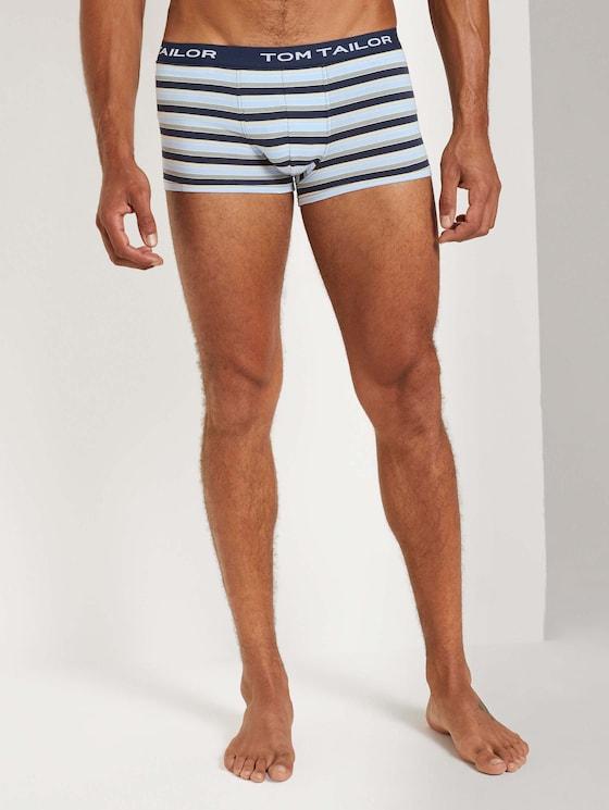 Hip-Pants im Dreierpack - Männer - blue stripes - 1 - TOM TAILOR