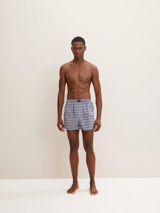 Boxer-Shorts im Zweierpack - Männer - blue-dark-check - 1 - TOM TAILOR
