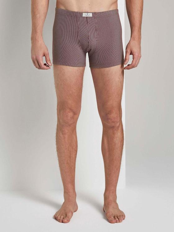 Hip pants in double pack - Men - red-dark-stripes - 1 - TOM TAILOR