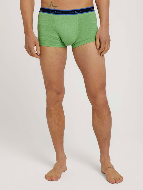 Hip-Pants im Doppelpack - Männer - green-medium-melange - 1 - TOM TAILOR