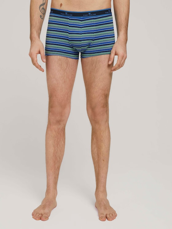 Hip-Pants im Doppelpack - Männer - black aral blue stripe - 1 - TOM TAILOR