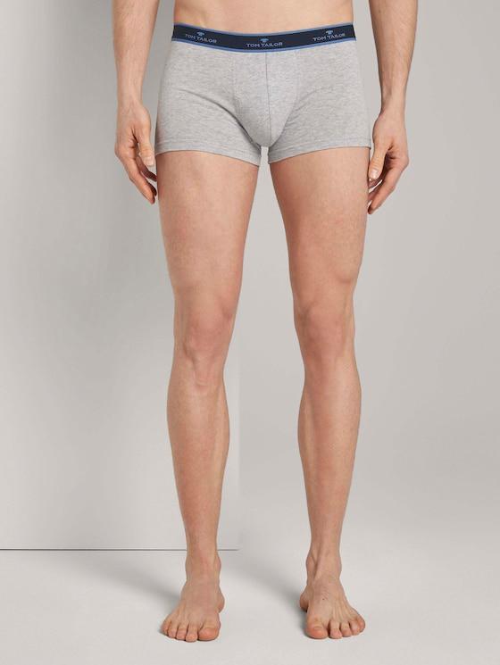 Hip-Pants im Doppelpack - Männer - grey-medium-melange - 1 - TOM TAILOR