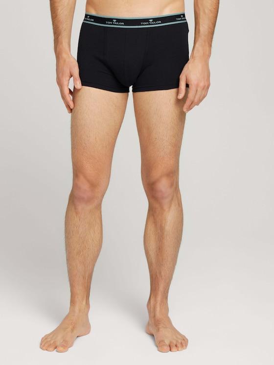 Hip-Pants im Doppelpack - Männer - black-dark-solid - 1 - TOM TAILOR