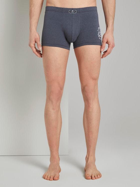 Hip-Pants im Doppelpack - Männer - blue-dark-melange - 1 - TOM TAILOR