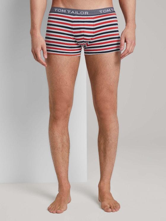 Gestreifte Hip-Pants - Männer - red-medium-horizontal stripe - 1 - TOM TAILOR