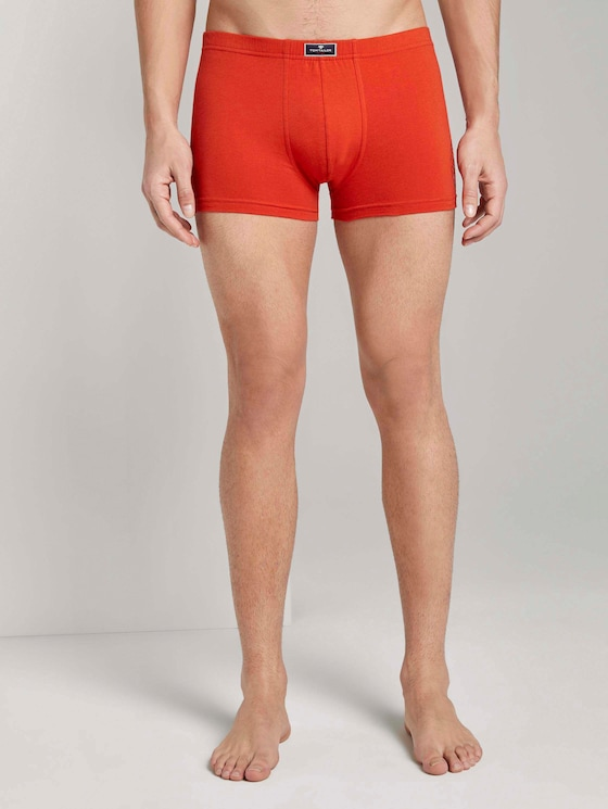 Hip pants in a pack of two - Men - red-medium-solid - 1 - TOM TAILOR