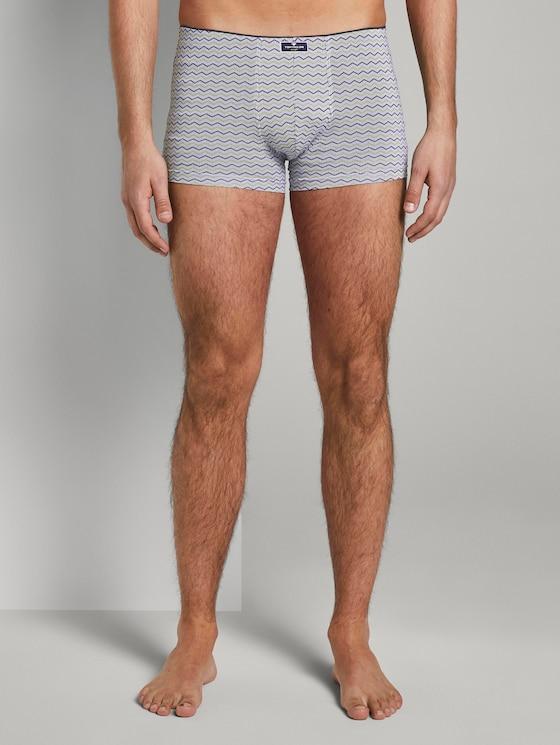 Patterned hip pants - Men - white-light-allover - 1 - TOM TAILOR