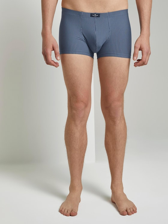 Gestreifte Hip-Pants im Doppelpack - Männer - blue-medium-vertical stripe - 1 - TOM TAILOR