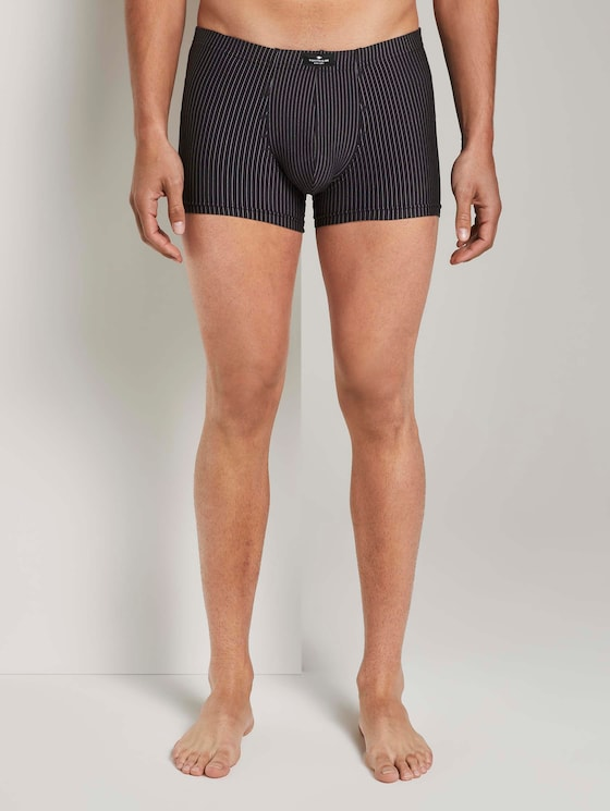 Gestreifte Hip-Pants im Doppelpack - Männer - black-dark-stripes - 1 - TOM TAILOR