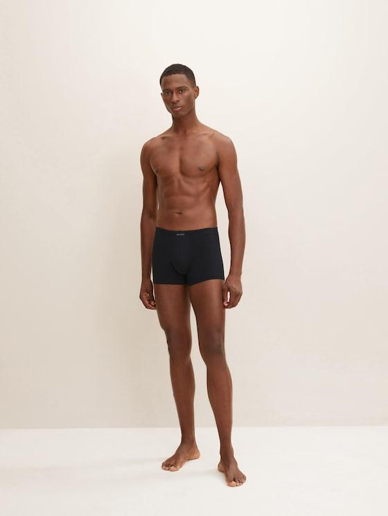 Hip-Pants im Viererpack - Männer - black-dark-solid - 1 - TOM TAILOR