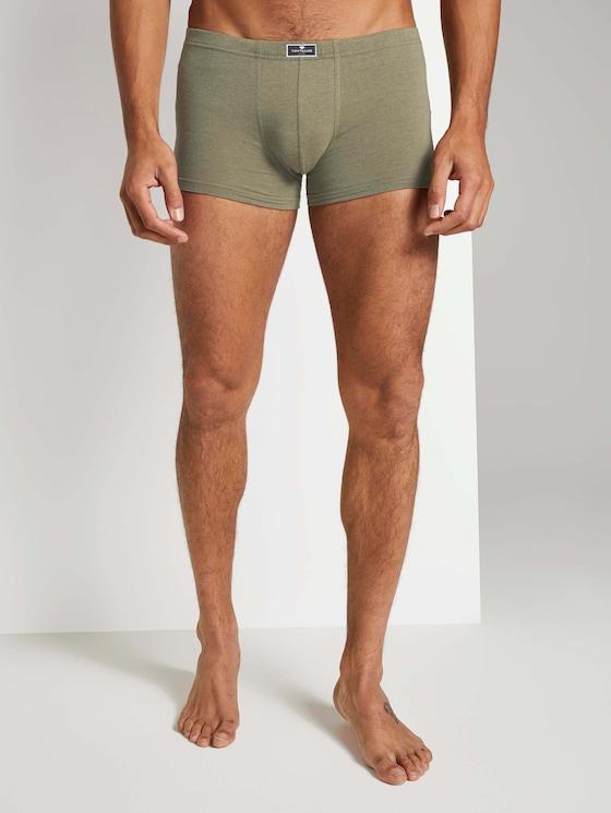 Hip Pants im Zweierpack - Männer - green melange - 1 - TOM TAILOR