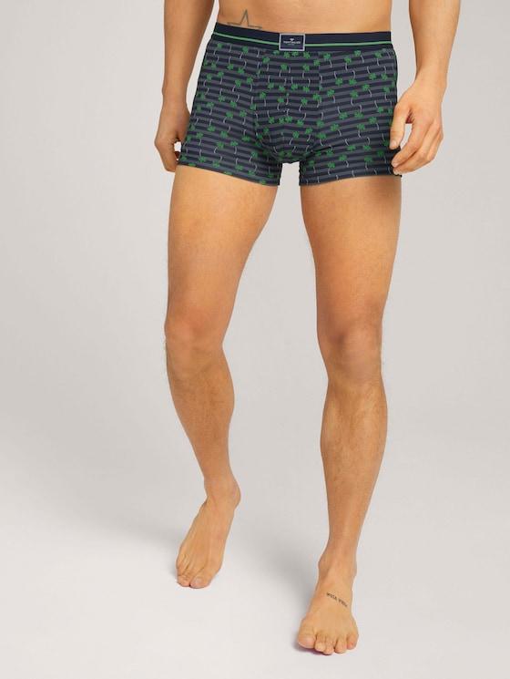 Palmen Hip-Pants aus Modal - Männer - blue-dark-allover - 1 - TOM TAILOR