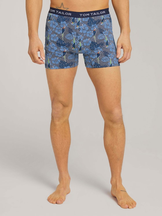 Gemusterte Boxershorts Hawaii - Männer - blue-medium-allover - 1 - TOM TAILOR